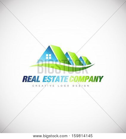 Real estate house vector logo icon sign design template