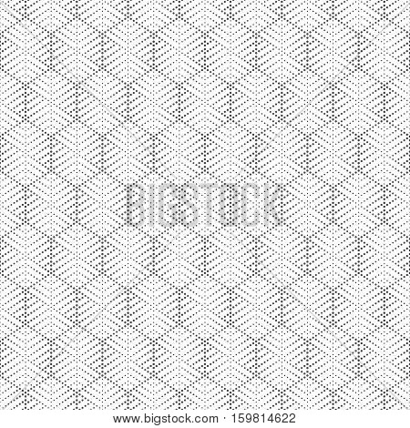 Vector seamless pattern. Abstract small dotted textured background. Modern stylish texture. Regularly repeating stylish geometrical tiles with dots dotted striped hexagons. Contemporary design.