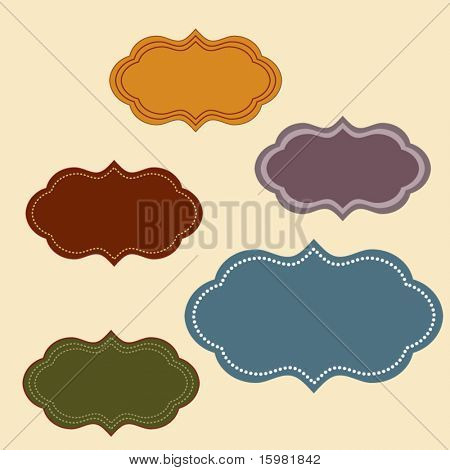 set of elegant but simple labels  - easy to change colors
