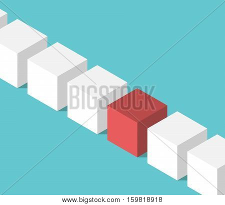 Unique Red Isometric Cube