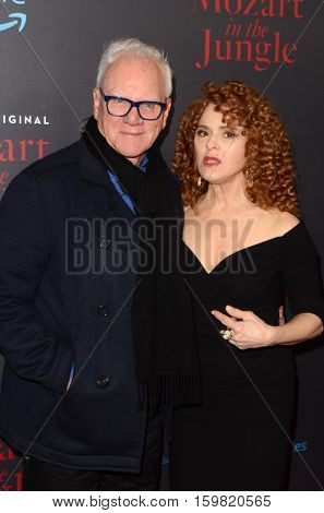 LOS ANGELES - DEC 1:  Malcolm McDowell, Bernadette Peters at the