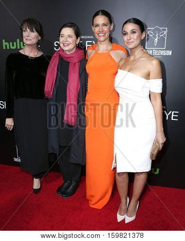 LOS ANGELES - DEC 1:  Mel Harris, Isabella Rossellini, KaDee Strickland, Emmanuelle Chriqui at the Premiere Of Hulu's