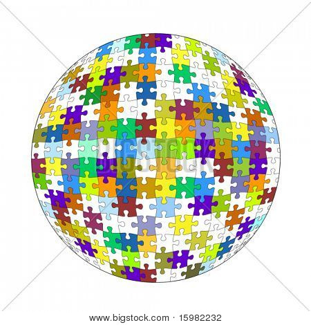 puzzle ball (separate pieces)