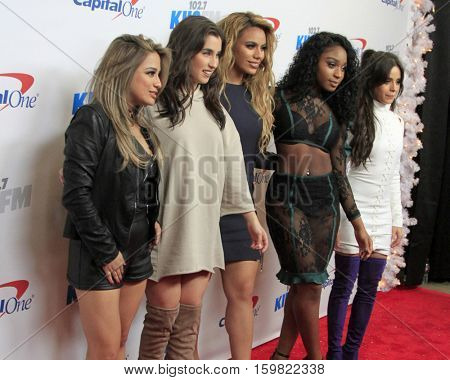 LOS ANGELES - DEC 2:  Fifth Harmony at the 102.7KIIS FM's Jingle Ball 2016 at Staples Center on December 2, 2016 in Los Angeles, CA