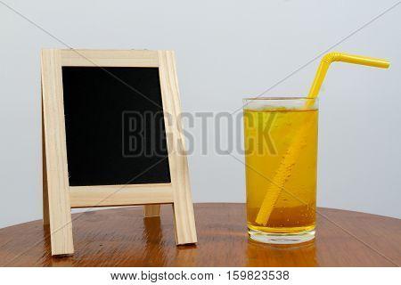 The pineapple soda juice and white scene.
