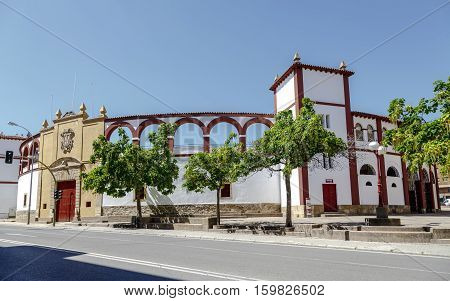 The bullring of Soria Spain popularly known as La Chata or more formally as the Coso of San Benito.