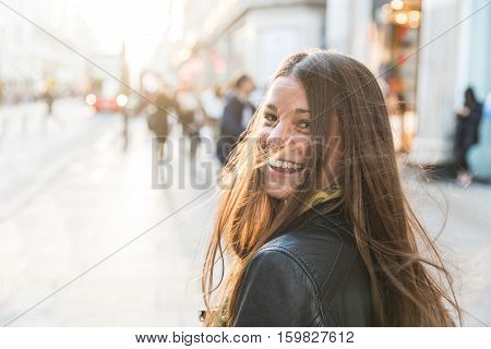 Portrait Of A Young Woman In London