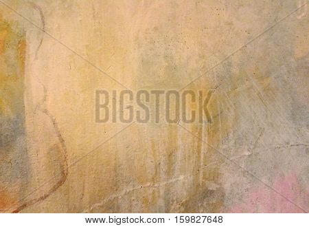Background of old yellow painted wall cracked concrete vintage wall backgroundold wall An Old Cracked Wall with ciement