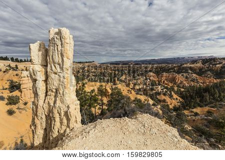 Hoodoo view at Bryce Canyon National Park in Southern Utah