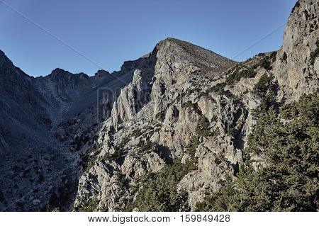 Lefka Ori - rocky sewn in the White Mountains on the island of Crete