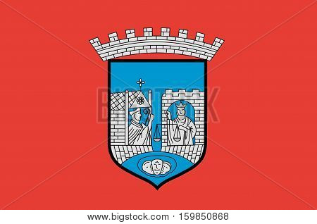 Flag of Trondheim is a city and municipality in Sor-Trondelag county Norway