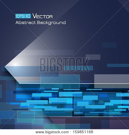 Abstract background with rectangles and blue color tone