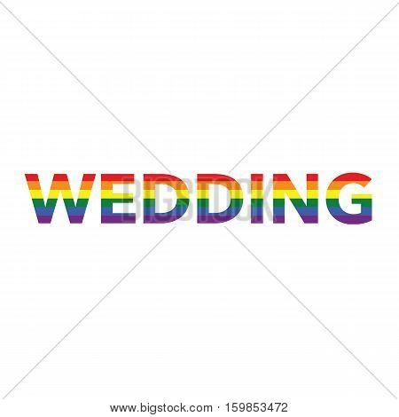 Wedding: Rainbow Color Calligraphy
