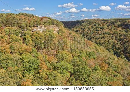 Wolf Creek Overlook At Little River Canyon In Alabama 1