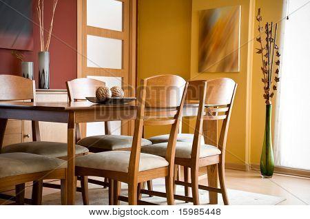 Interior Design Series: moderne bunten Esszimmer