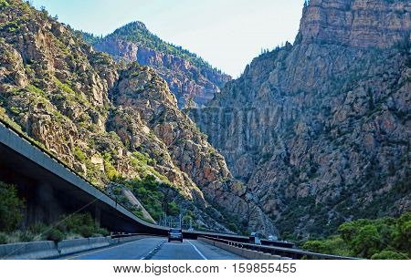 I-70 through Glenwood Canyon, Colorado, was one of the last pieces of the interstate highway system to be completed.