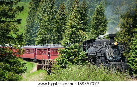 Cumbres & Toltec Train from Chama, New Mexico