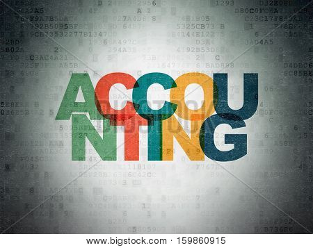 Banking concept: Painted multicolor text Accounting on Digital Data Paper background
