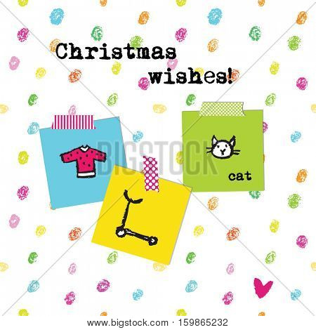 Christmas wishes card.