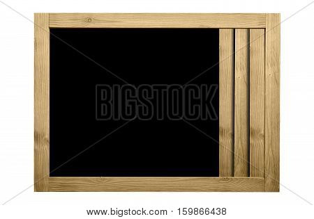 Wooden frame for decorative text and image. Fresh color concept.