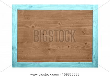Wood frame for decorative text and image. fresh color.