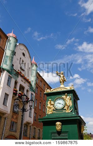 Clock - barometer Malaya Konyushennaya Street Saint -Petersburg Russia