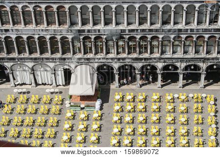San Marcos .Aerial view of the Piazza San Marco in Venice