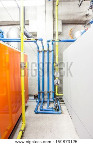 in the technical area there are boosters for the water pipes of the building