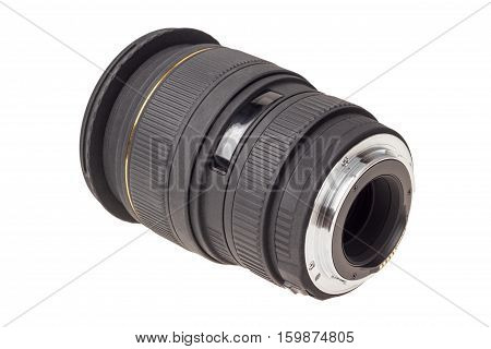 Lens Of Modern Digital Camera, Rear View Of Lens