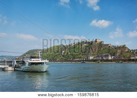 Deutsches Eck German Corner is the name of a headland in Koblenz where the Moselle joins the Rhine.