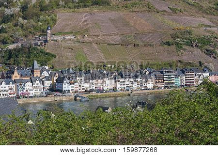 The small village along the Mosel River Germany