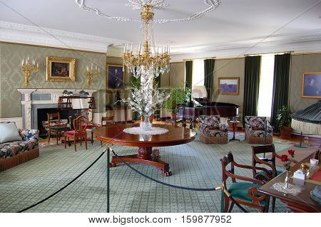 ROCHESTER, NY, USA - MAY 20, 2010: Living room in George Eastman House in Rochester, New York State, USA.
