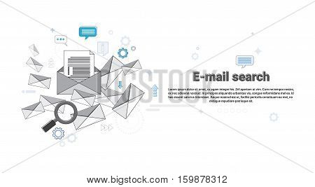 E-mail Search Digital Content Information Technology Business Vector Illustration