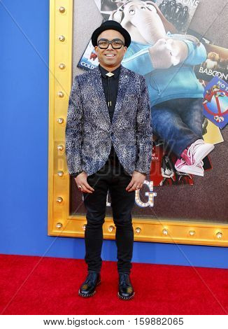 Jojo Villanueva at the Los Angeles premiere of 'Sing' held at the Microsoft Theater in Los Angeles, USA on December 3, 2016.