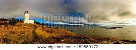 Quaco Head Lighthouse in Saint Martin New Brunswick Canada