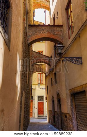 Archway In The Old Town Of Florence, Italy