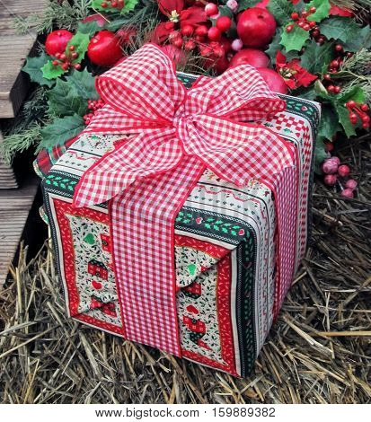 A Beautifully-wrapped Christmas Present ready for Someone Special.