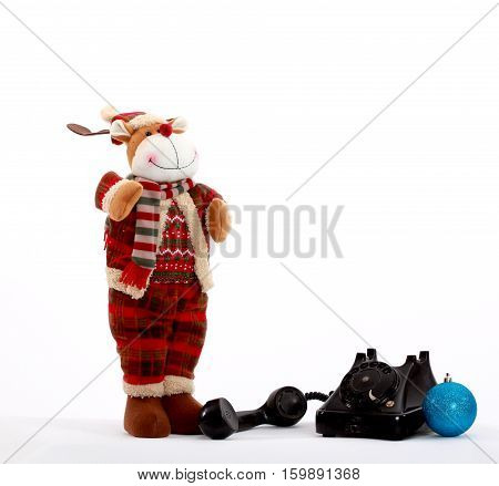 picture of a Christmas decorations on white background