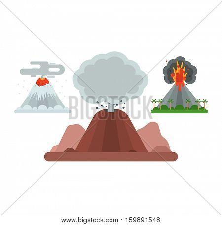 Volcano vector illustration.