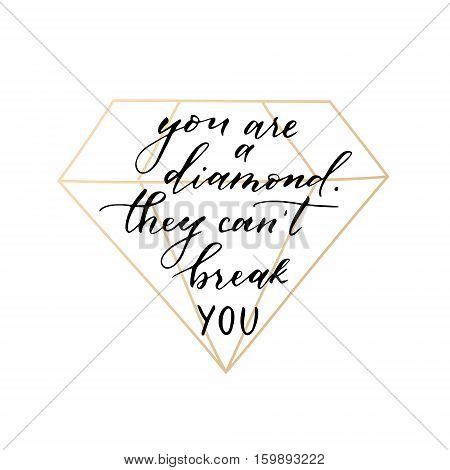 Vector hand drawn modern card. Trendy hand written calligraphy postcard. Elegant calligraphic quote and phrase.