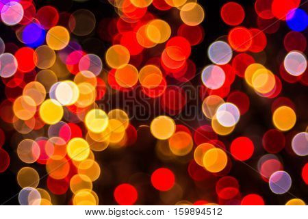 Bokeh-abstraction in a predominantly red colors leaving a feeling of soft velvet.