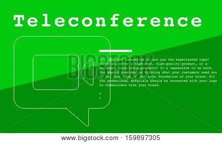 Communication Connection Teleconference Network Concept