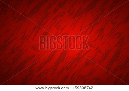Red abstract background with dark streaks vector illustration