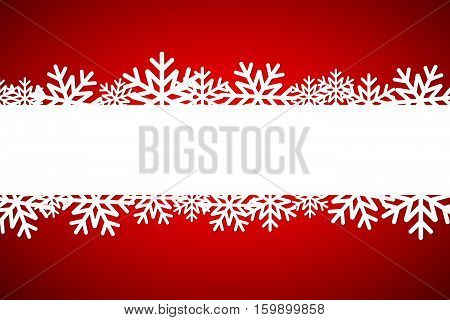 Christmas snowflake background with space for your wishes simple holiday card with snowflakes