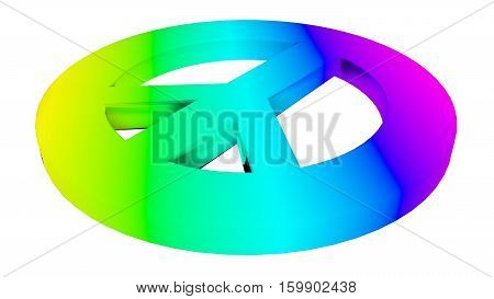 rainbow peace sign hippie sign and symbol