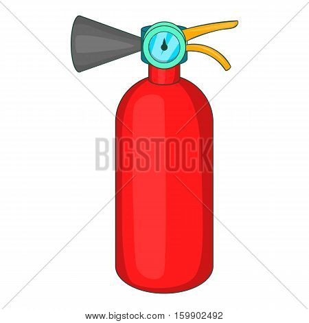 Fire extinguisher icon. Cartoon illustration of fire extinguisher vector icon for web design
