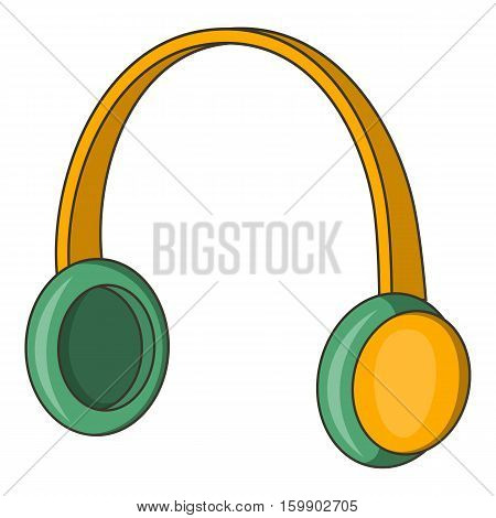 Protective headphones icon. Cartoon illustration of ear protectors vector icon for web design
