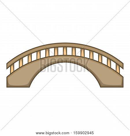Round bridge icon. Cartoon illustration of bridge vector icon for web design