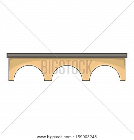 Direct bridge icon. Cartoon illustration of bridge vector icon for web design