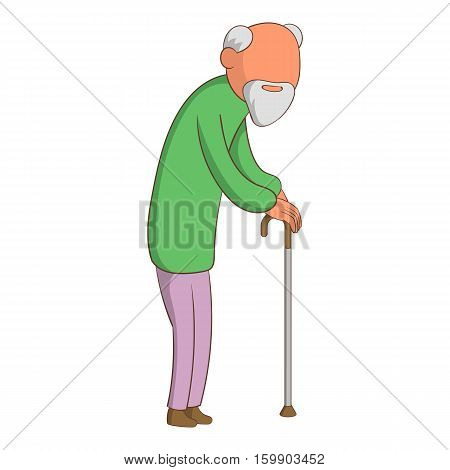 Old man icon. Cartoon illustration of old man vector icon for web design
